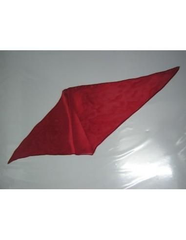 Pañuelo de seda rombo rojo